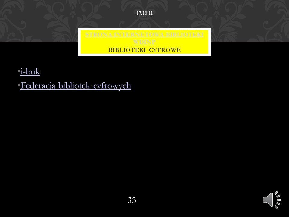 STRONA INTERNETOWA BIBLIOTEKI WDINP BIBLIOTEKI CYFROWE
