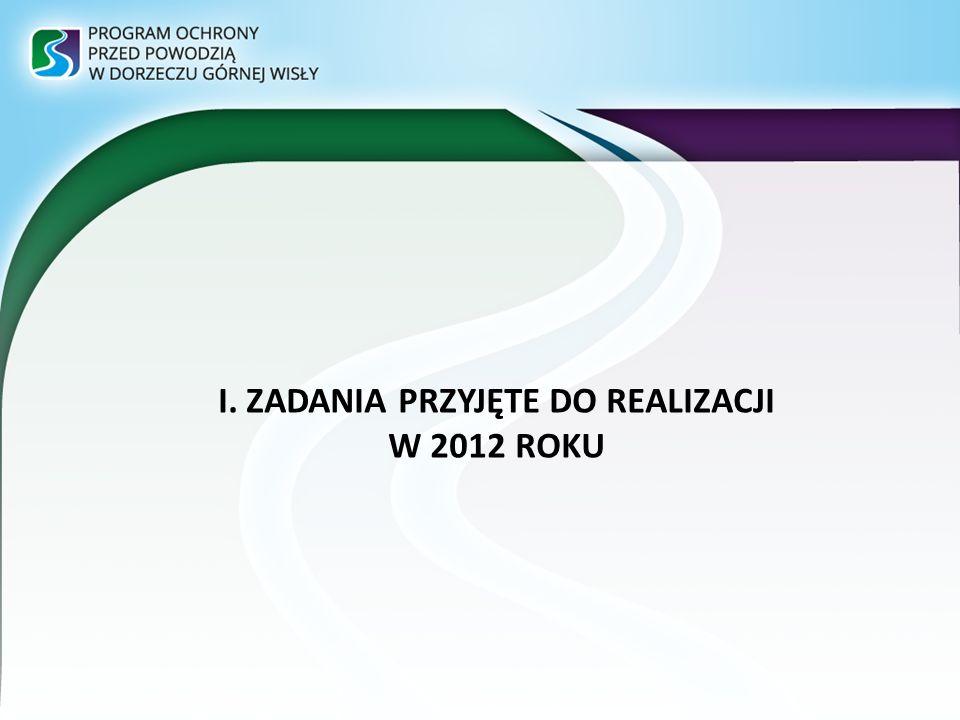 I. ZADANIA PRZYJĘTE DO REALIZACJI W 2012 ROKU