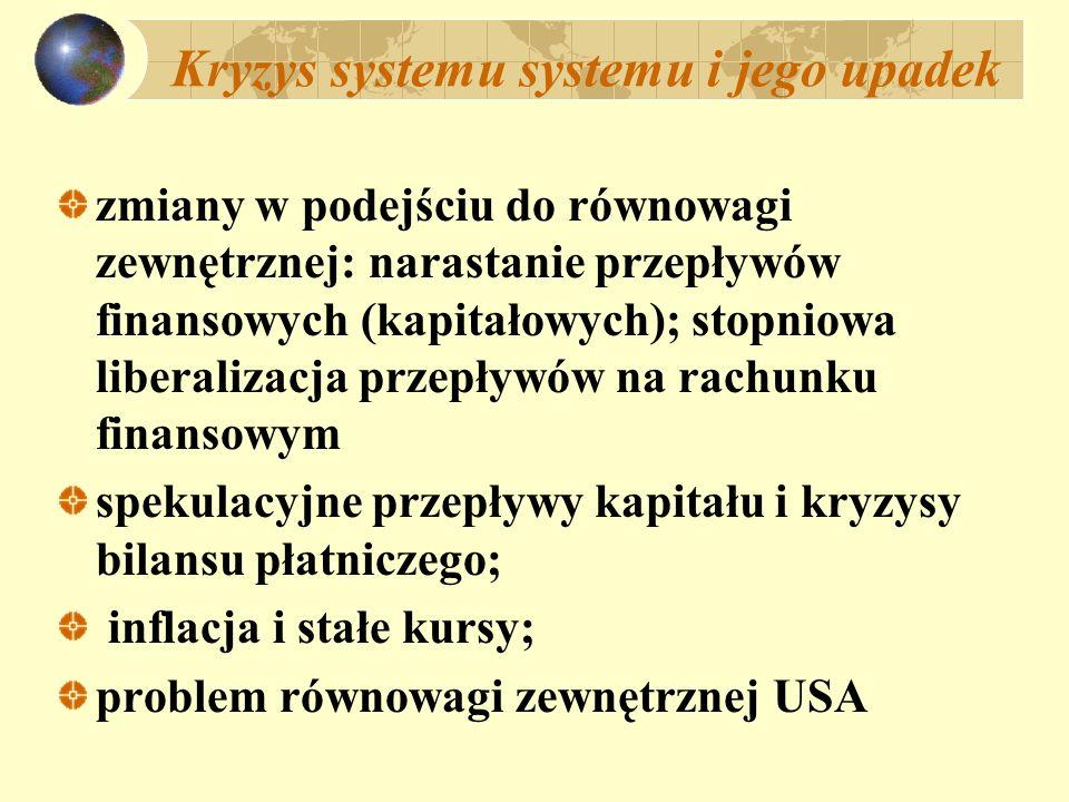 Kryzys systemu systemu i jego upadek