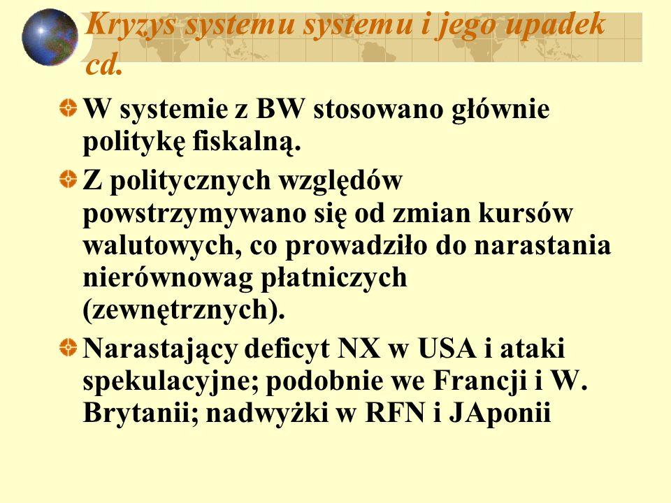Kryzys systemu systemu i jego upadek cd.