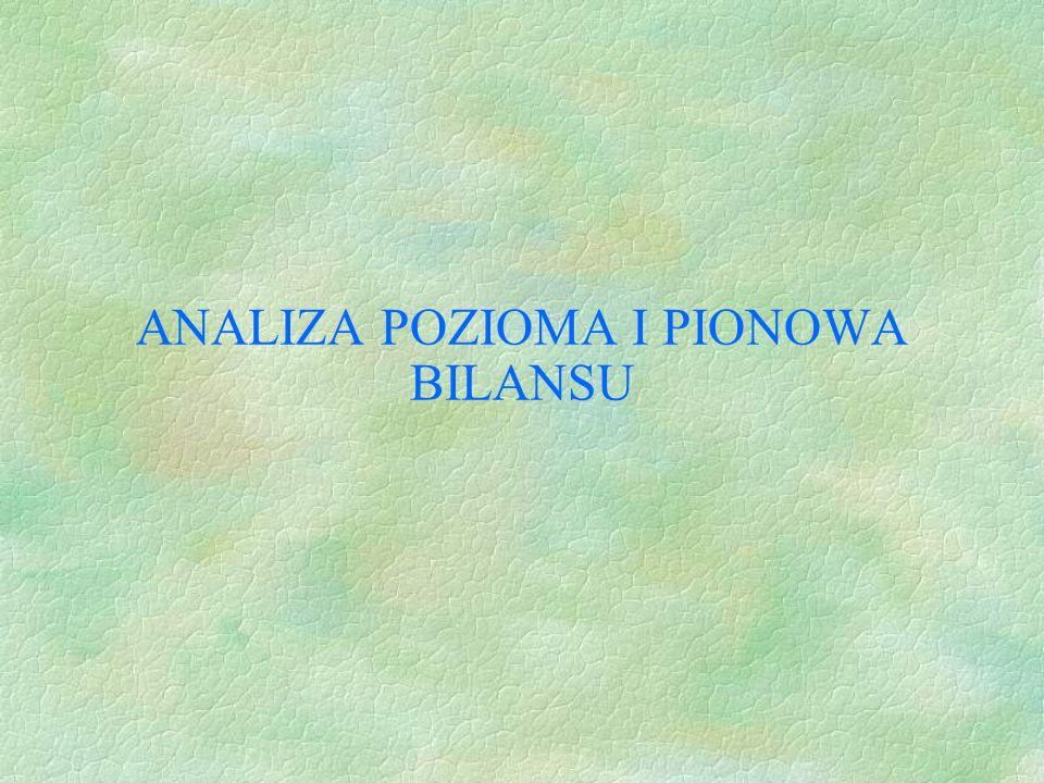 ANALIZA POZIOMA I PIONOWA BILANSU