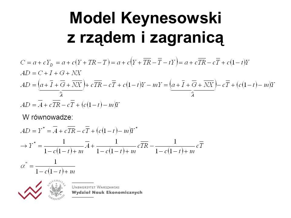 Model Keynesowski z rządem i zagranicą
