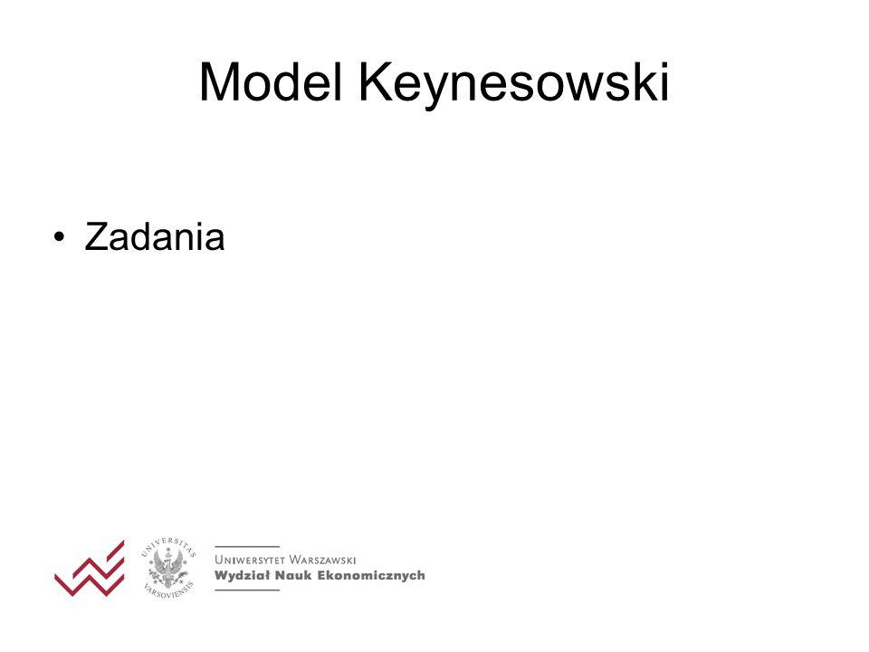 Model Keynesowski Zadania