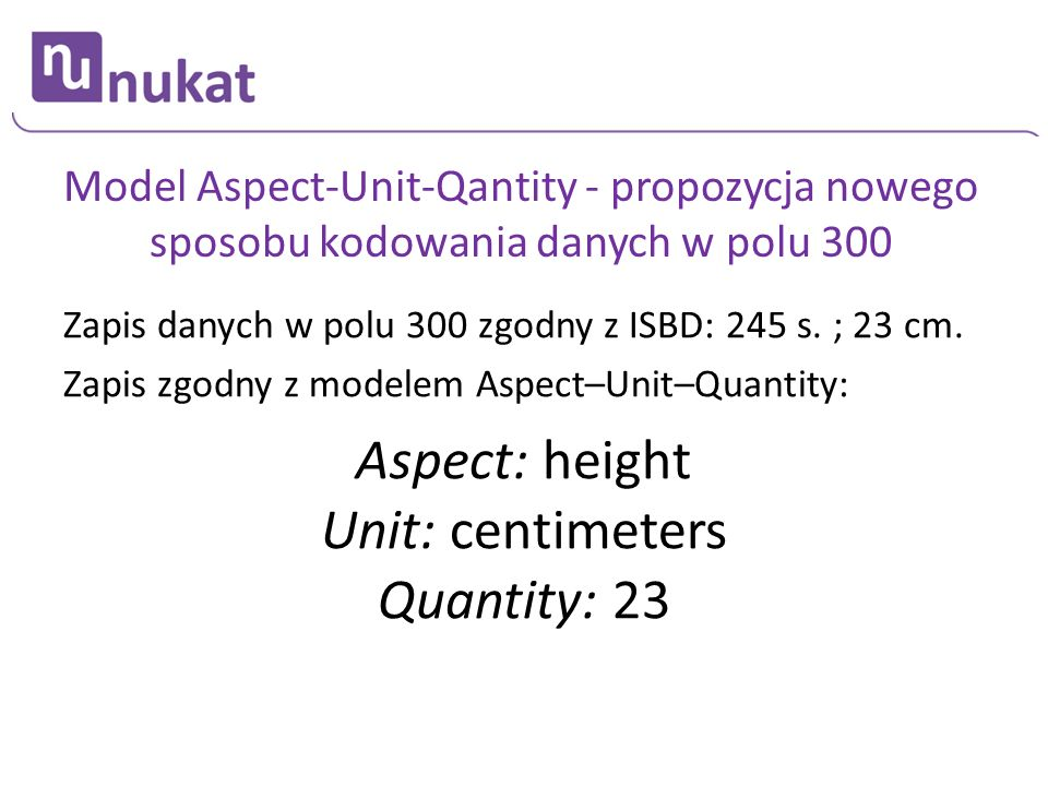 Aspect: height Unit: centimeters Quantity: 23