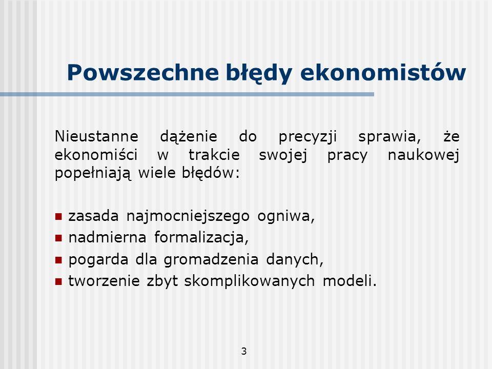 Powszechne błędy ekonomistów