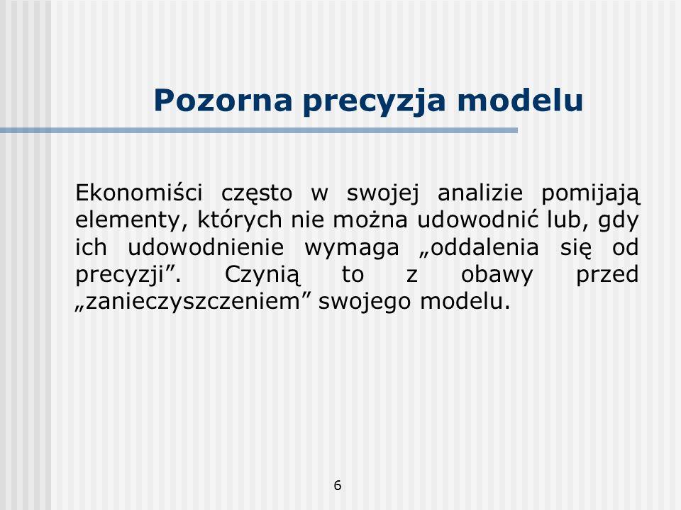 Pozorna precyzja modelu