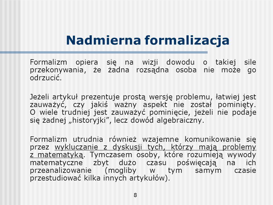 Nadmierna formalizacja