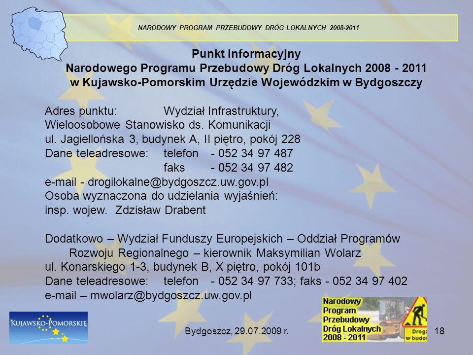Narodowego Programu Przebudowy Dróg Lokalnych 2008 - 2011