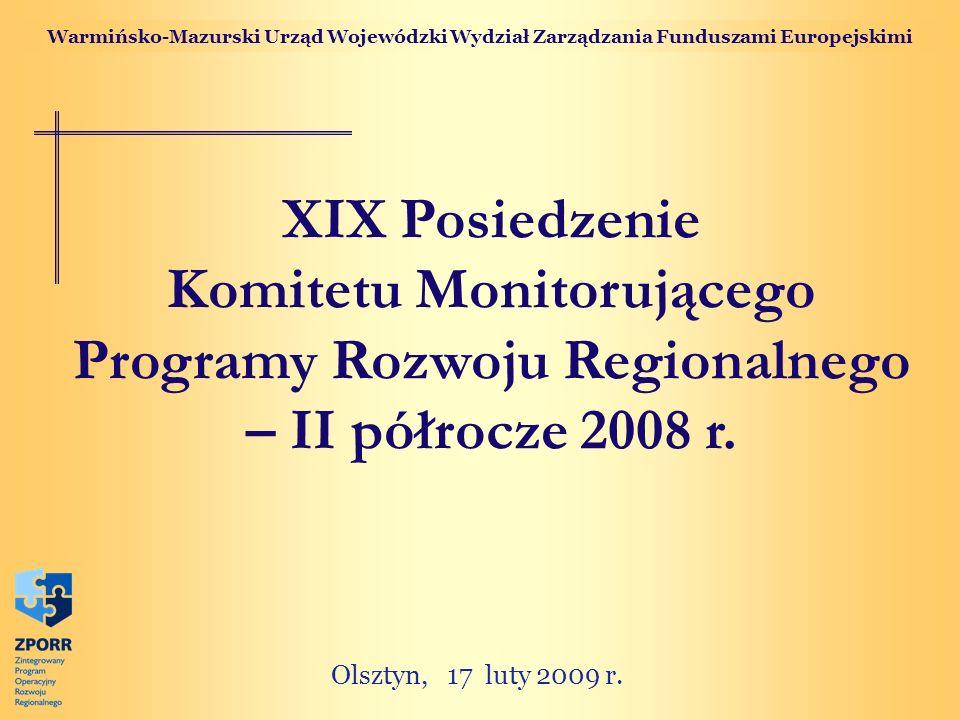 Komitetu Monitorującego Programy Rozwoju Regionalnego