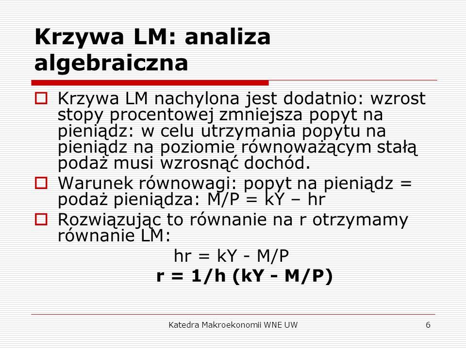Krzywa LM: analiza algebraiczna