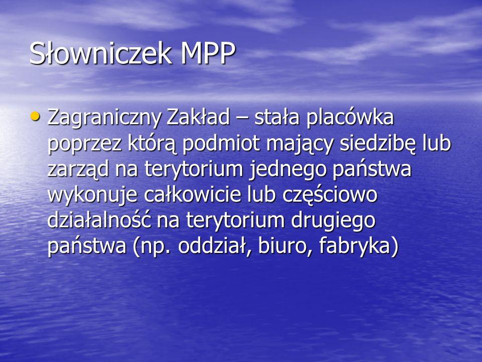 Słowniczek MPP
