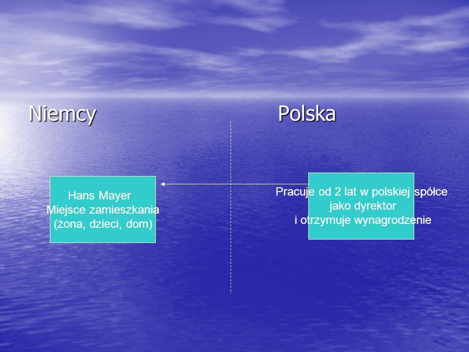 Niemcy Polska Pracuje od 2 lat w polskiej spółce Hans Mayer