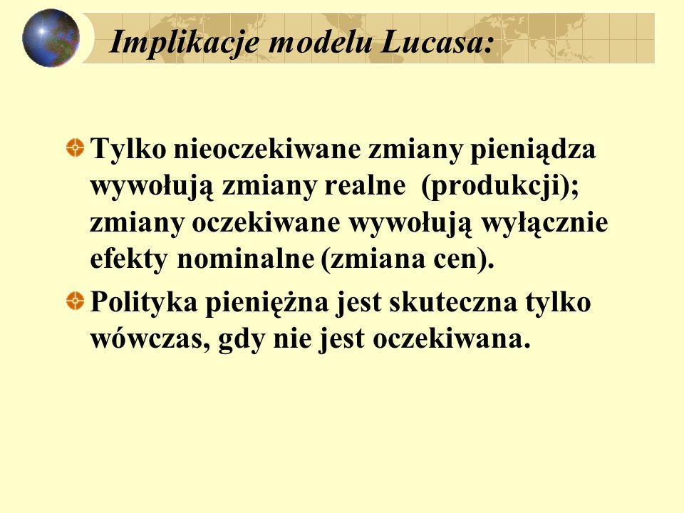 Implikacje modelu Lucasa: