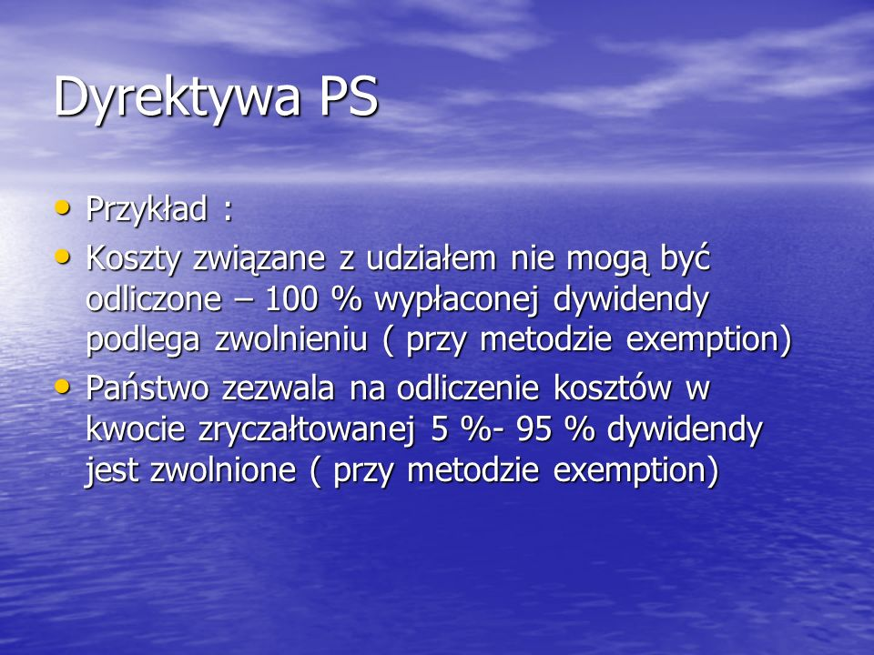 Dyrektywa PS Przykład :