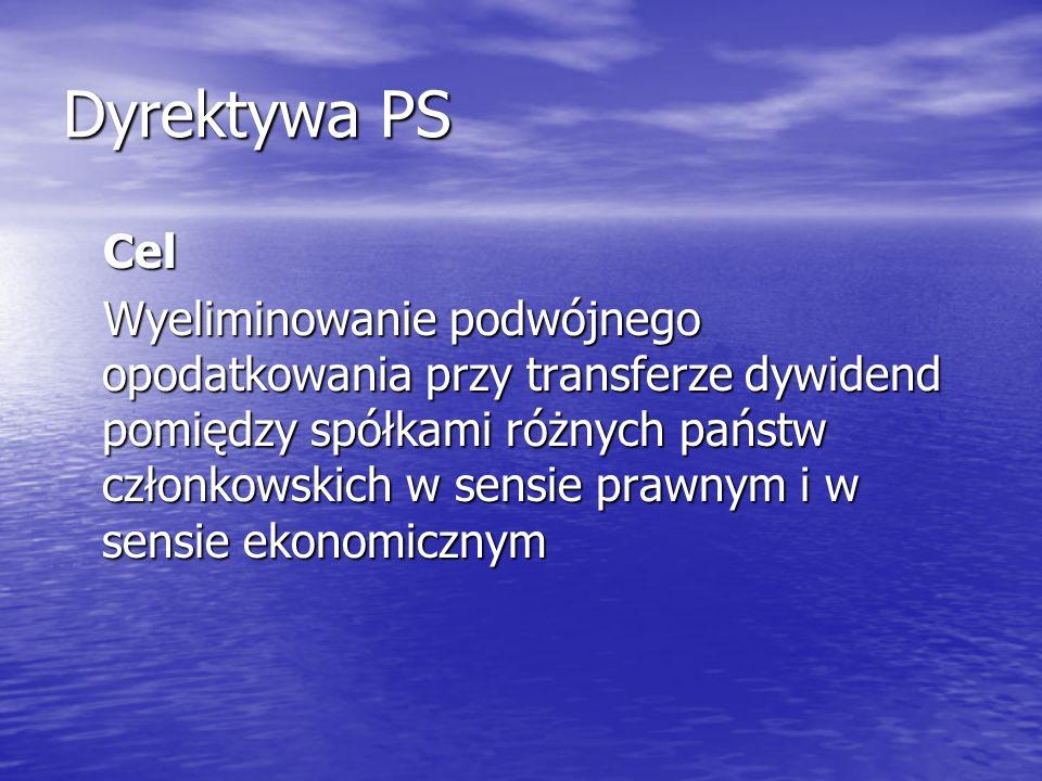 Dyrektywa PS Cel.