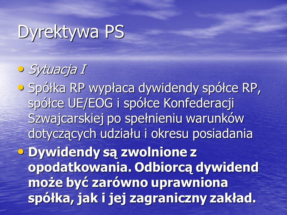 Dyrektywa PS Sytuacja I