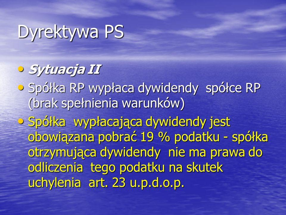 Dyrektywa PS Sytuacja II