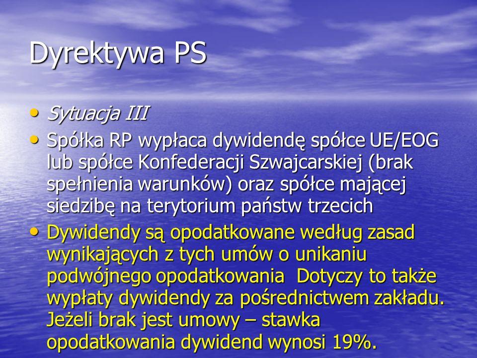 Dyrektywa PS Sytuacja III