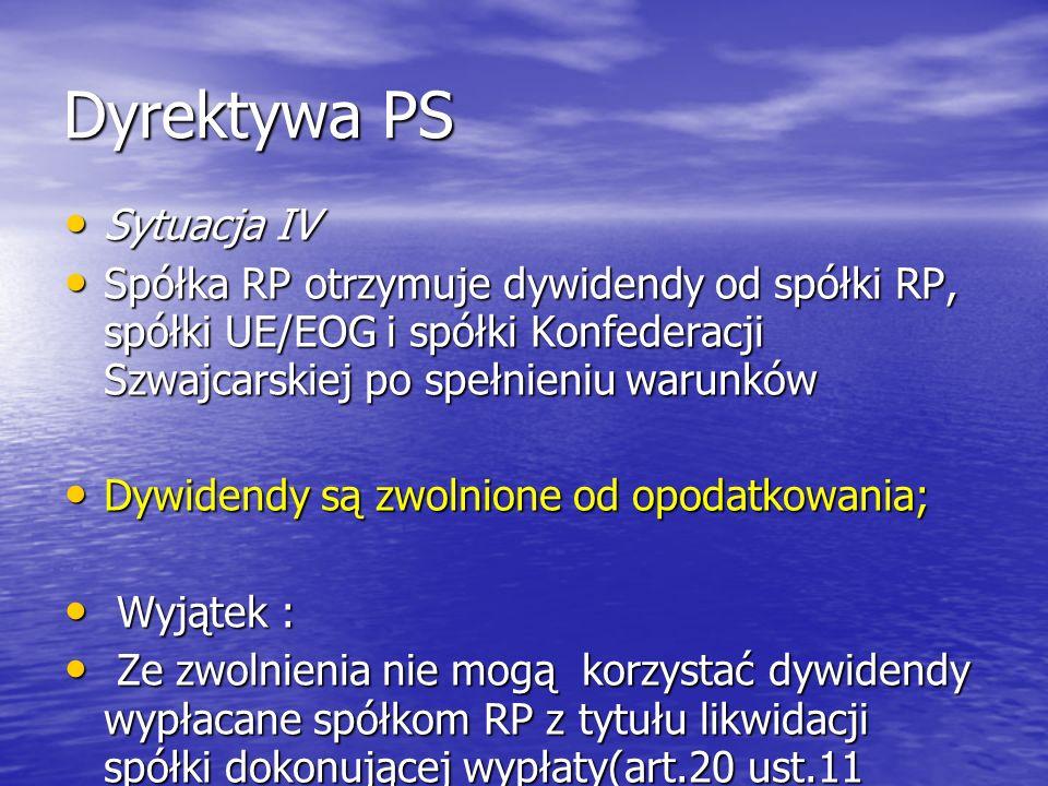 Dyrektywa PS Sytuacja IV