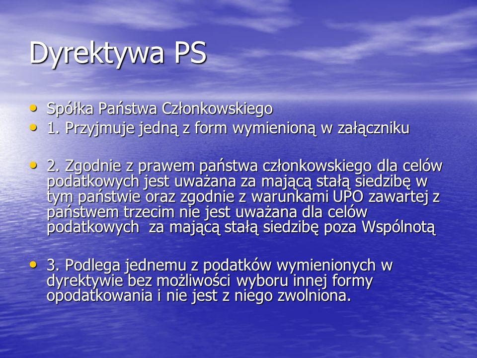 Dyrektywa PS Spółka Państwa Członkowskiego