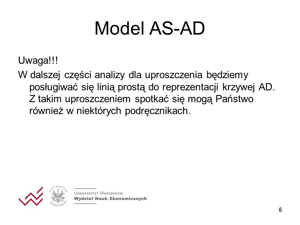 Model AS-AD Uwaga!!!