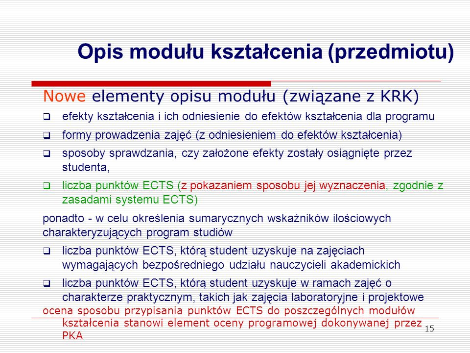 Opis modułu kształcenia (przedmiotu)