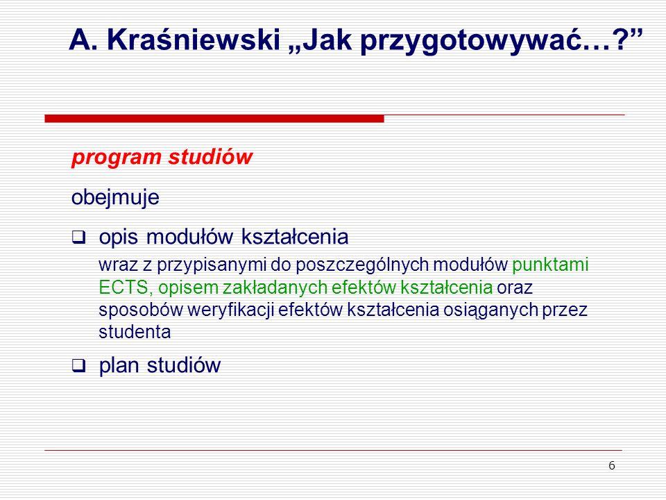 """A. Kraśniewski """"Jak przygotowywać…"""