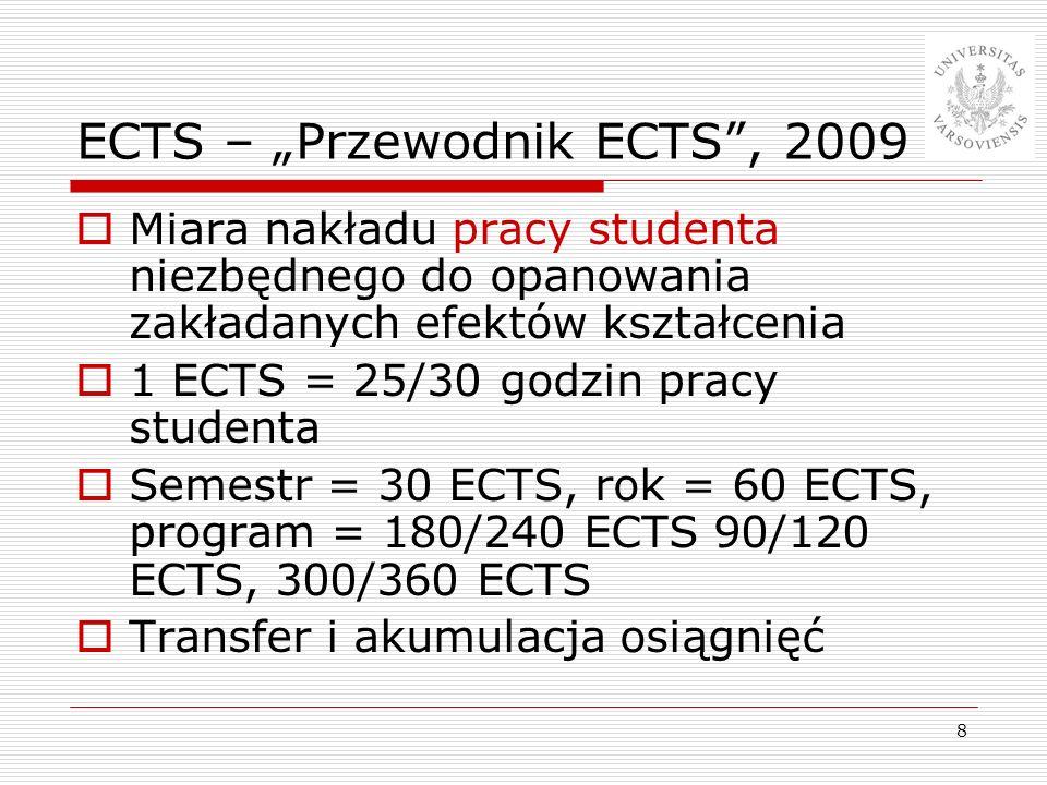 """ECTS – """"Przewodnik ECTS , 2009"""