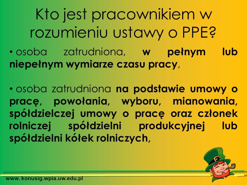 Kto jest pracownikiem w rozumieniu ustawy o PPE