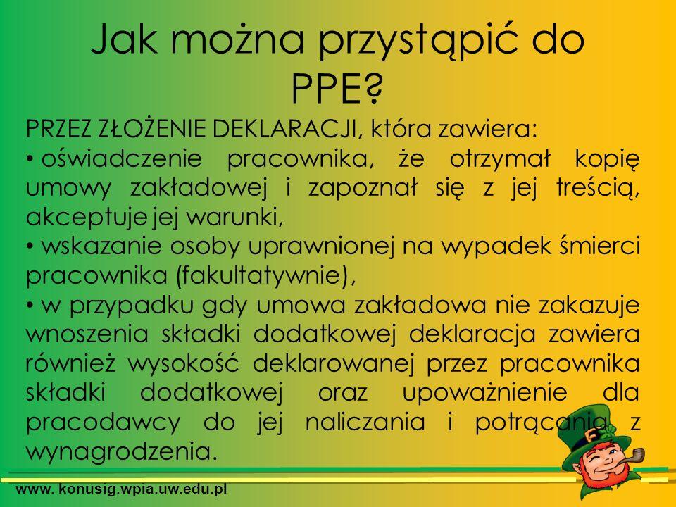 Jak można przystąpić do PPE