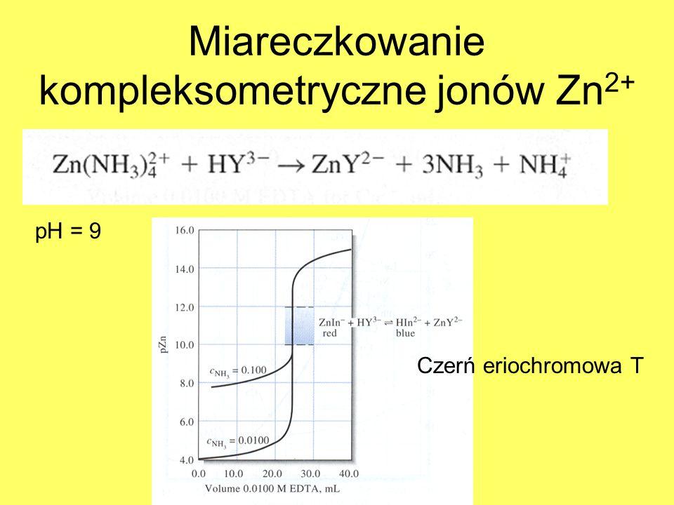 Miareczkowanie kompleksometryczne jonów Zn2+