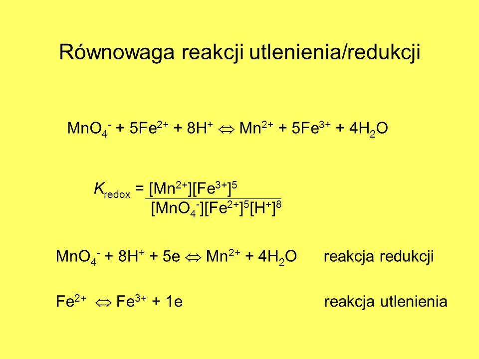 Równowaga reakcji utlenienia/redukcji