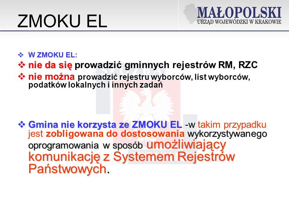 ZMOKU EL nie da się prowadzić gminnych rejestrów RM, RZC