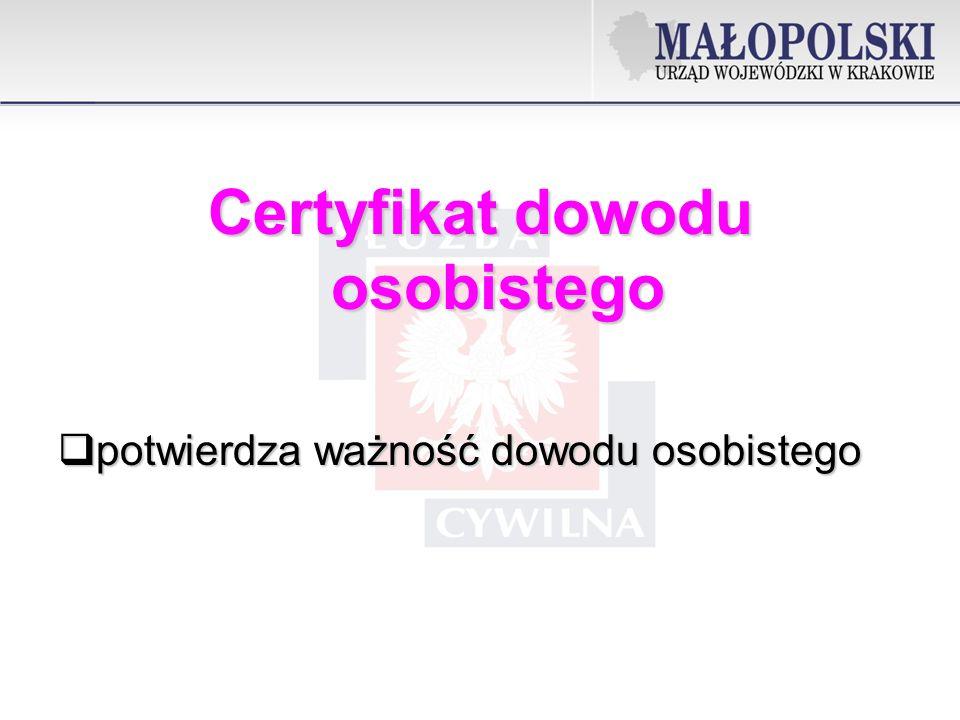 Certyfikat dowodu osobistego