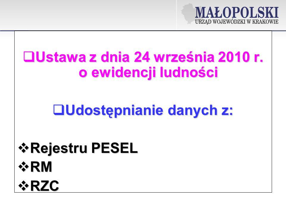 Ustawa z dnia 24 września 2010 r. o ewidencji ludności
