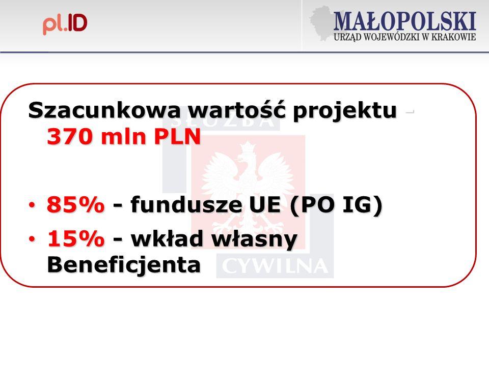 Szacunkowa wartość projektu - 370 mln PLN