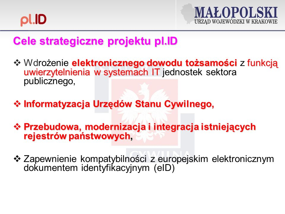 Cele strategiczne projektu pl.ID
