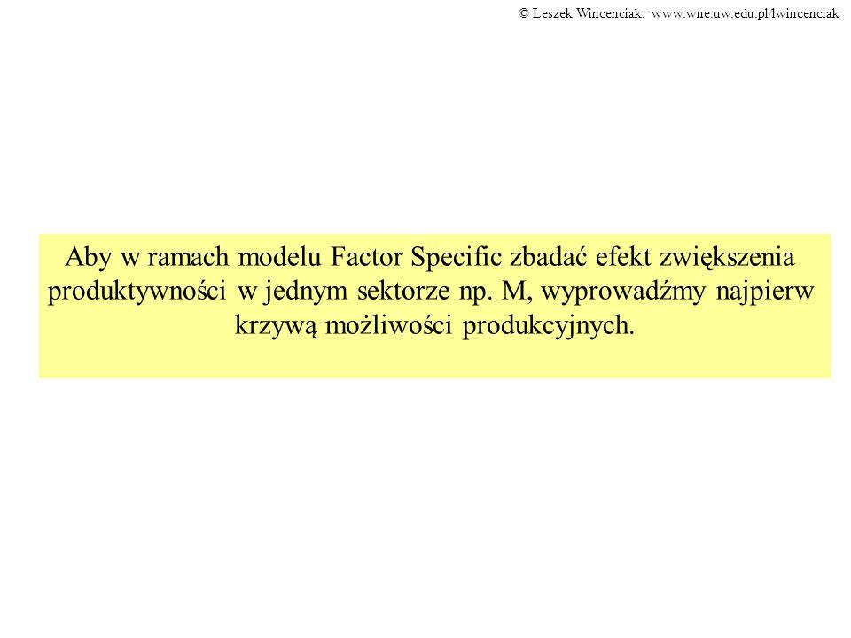 Aby w ramach modelu Factor Specific zbadać efekt zwiększenia