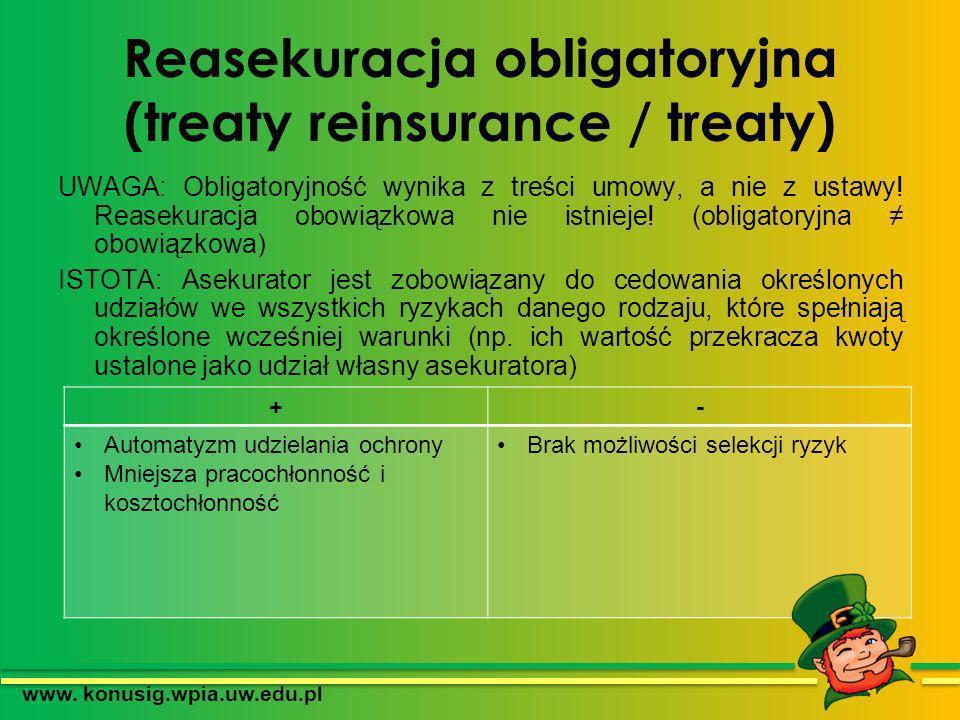 Reasekuracja obligatoryjna (treaty reinsurance / treaty)