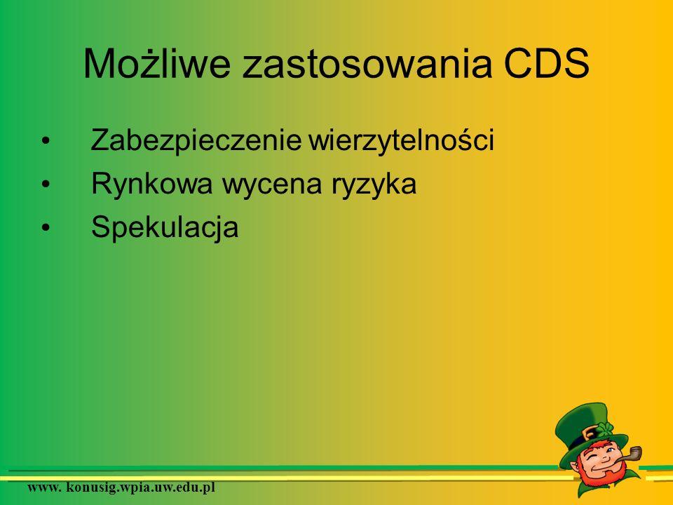 Możliwe zastosowania CDS