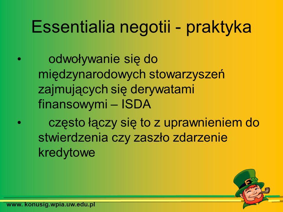 Essentialia negotii - praktyka