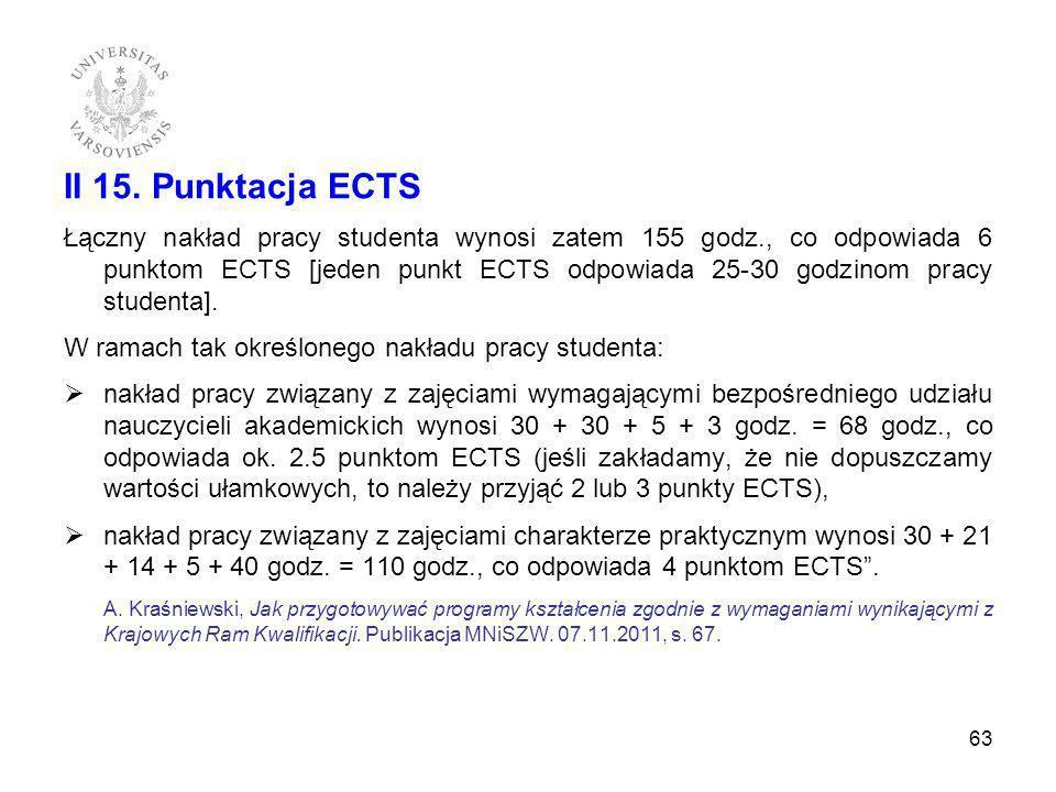 II 15. Punktacja ECTS