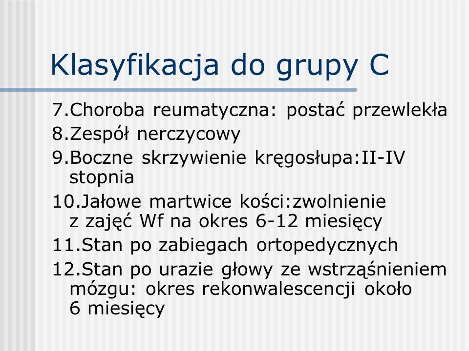 Klasyfikacja do grupy C