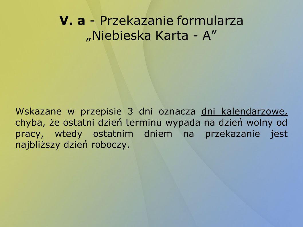 """V. a - Przekazanie formularza """"Niebieska Karta - A"""