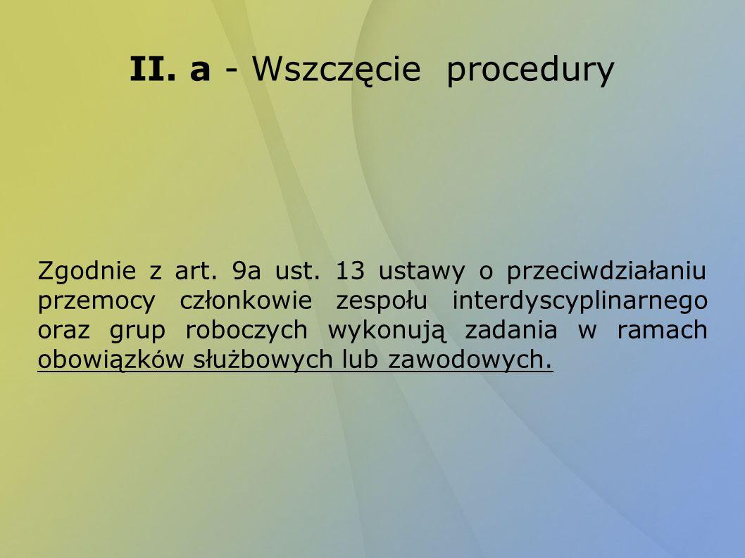 II. a - Wszczęcie procedury