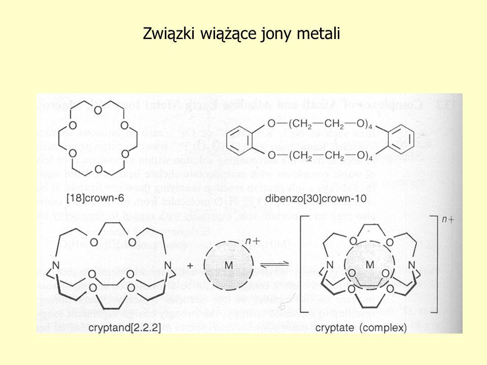 Związki wiążące jony metali