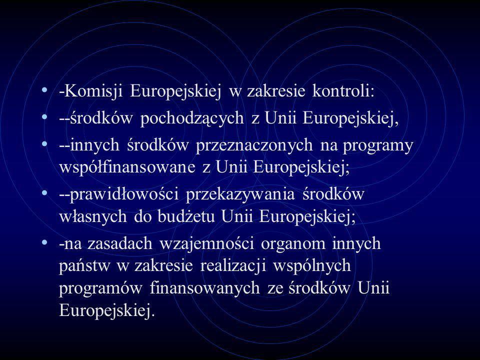 -Komisji Europejskiej w zakresie kontroli: