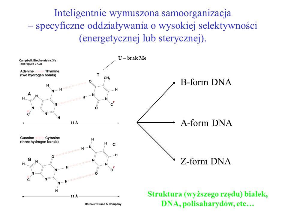 Struktura (wyższego rzędu) białek, DNA, polisaharydów, etc…