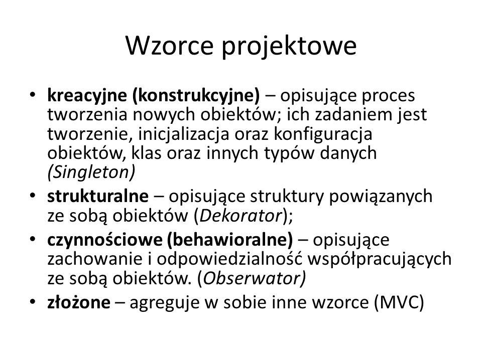 Wzorce projektowe
