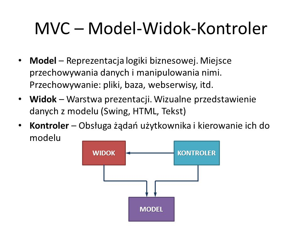 MVC – Model-Widok-Kontroler